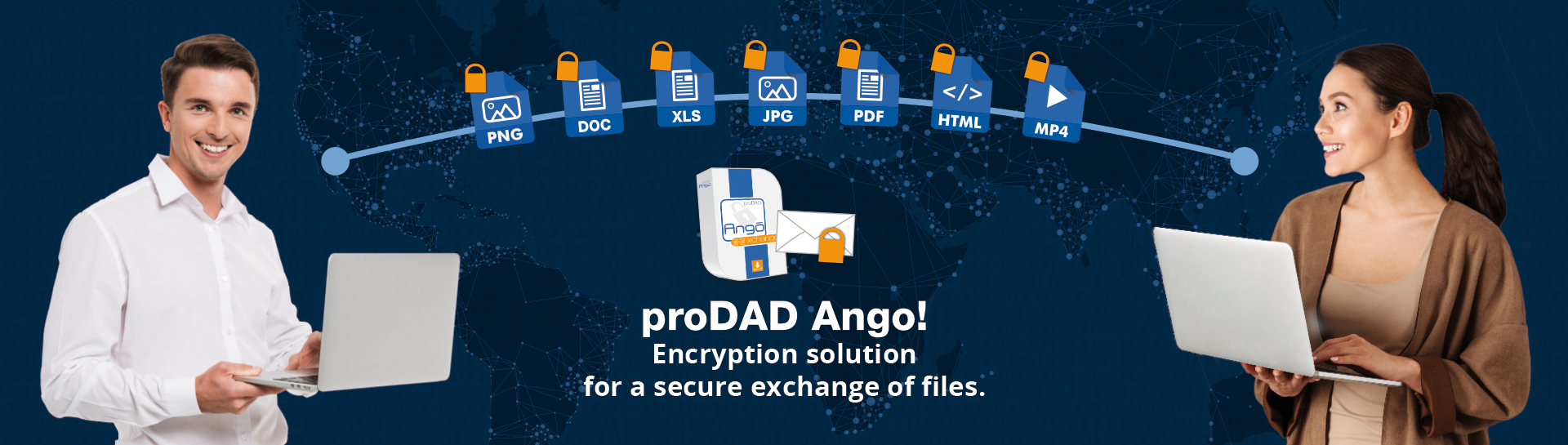 proDAD Ango - Encrypting solution for a secure exchange of files